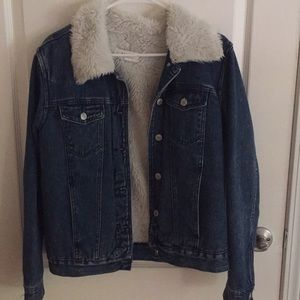 Pacsun sherpa denim jacket